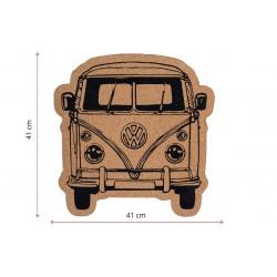 Corcho Adhesivo de 5 mm para tablón de anuncios - 30 x 30 cm (6 unidades)